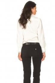 Dante 6 |  Cotton broderie blouse Bijou | white  | Picture 8