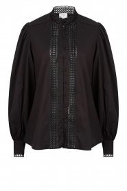 Dante 6 |  Cotton broderie blouse Bijou | black  | Picture 1