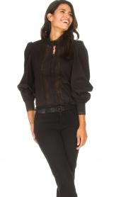 Dante 6 |  Cotton broderie blouse Bijou | black  | Picture 4
