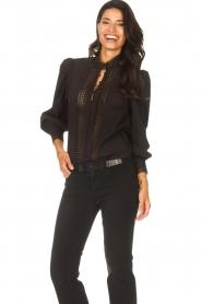 Dante 6 |  Cotton broderie blouse Bijou | black  | Picture 5