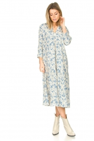 JC Sophie |  Floral midi dress Georgia | blue  | Picture 2
