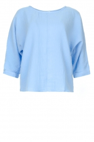 JC Sophie |  Cotton blouse with creased effect Gilda | blue  | Picture 1