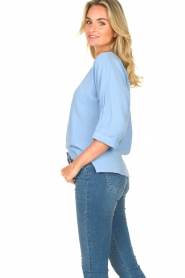 JC Sophie |  Cotton blouse with creased effect Gilda | blue  | Picture 5