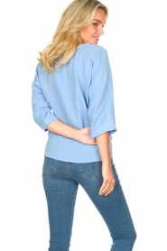 JC Sophie |  Cotton blouse with creased effect Gilda | blue  | Picture 6