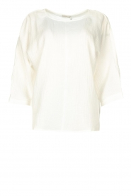 JC Sophie |  Cotton blouse with creased effect Gilda | white  | Picture 1