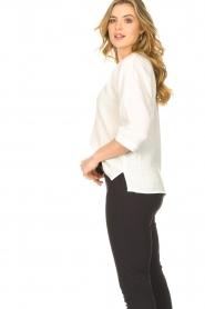 JC Sophie | Katoenen blouse met gekreukeld-effect Gilda | wit   | Afbeelding 6