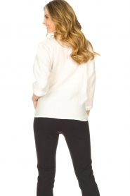 JC Sophie |  Cotton blouse with creased effect Gilda | white  | Picture 7