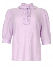 Dante 6    Blouse with ruffles Starrynight   purple    Picture 1