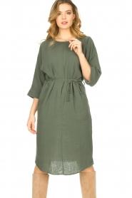 JC Sophie |  Cotton dress Graziella | green  | Picture 4