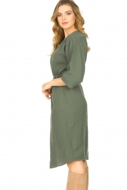 JC Sophie |  Cotton dress Graziella | green  | Picture 5