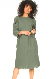 JC Sophie |  Cotton dress Graziella | green  | Picture 2