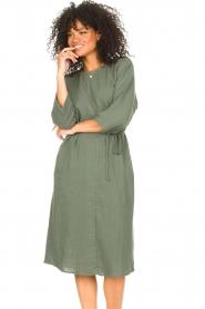 JC Sophie |  Cotton dress Graziella | green  | Picture 6