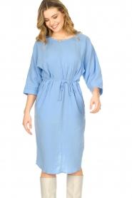 JC Sophie |  Cotton dress Graziella | blue  | Picture 4