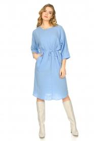 JC Sophie |  Cotton dress Graziella | blue  | Picture 3