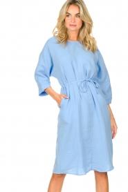 JC Sophie |  Cotton dress Graziella | blue  | Picture 2