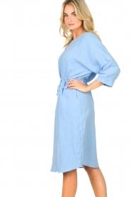 JC Sophie |  Cotton dress Graziella | blue  | Picture 5