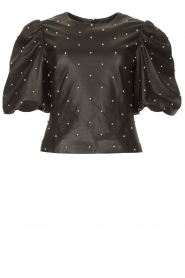 Dante 6 |  Leather top with studs Eclat | black  | Picture 1