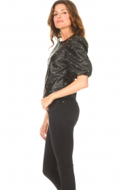 Dante 6 |  Leather top with studs Eclat | black  | Picture 6