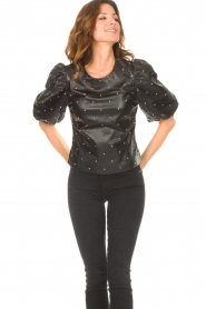 Dante 6 |  Leather top with studs Eclat | black  | Picture 5