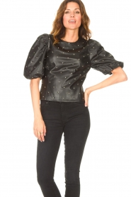 Dante 6 |  Leather top with studs Eclat | black  | Picture 4