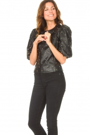 Dante 6 |  Leather top with studs Eclat | black  | Picture 2