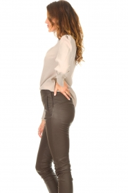 Dante 6 |  Top with v-neck Avedon | beige  | Picture 6