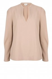 Dante 6 |  Top with v-neck Avedon | beige  | Picture 1
