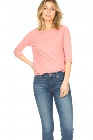 Blaumax | Katoenen T-shirt Garta | roze  | Afbeelding 2