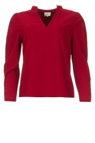 Dante 6 |  Top with v-neck Avedon | red  | Picture 1