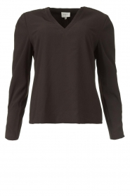 Dante 6    Top with v-neck Avedon   black    Picture 1