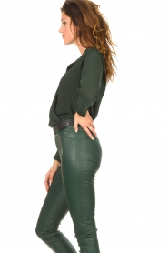 Dante 6 |  Deep V-neck top Nyla | green  | Picture 8