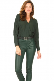 Dante 6 |  Deep V-neck top Nyla | green  | Picture 7