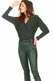 Dante 6 |  Deep V-neck top Nyla | green  | Picture 6