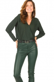 Dante 6 |  Deep V-neck top Nyla | green  | Picture 2