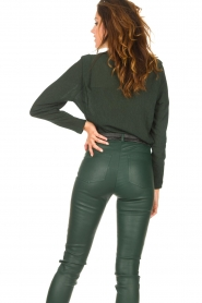 Dante 6 |  Deep V-neck top Nyla | green  | Picture 9