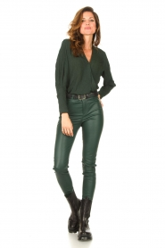 Dante 6 |  Deep V-neck top Nyla | green  | Picture 4