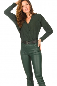 Dante 6 |  Deep V-neck top Nyla | green  | Picture 5