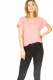 Blaumax |  Cotton T-shirt Barbados | pink  | Picture 5