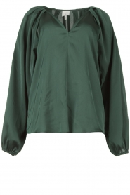 Dante 6 |  Blouse with v-neck Sue | green  | Picture 1
