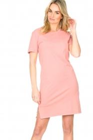 Blaumax |  Organic cotton T-shirt dress Cayman | pink  | Picture 2