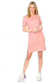 Blaumax |  Organic cotton T-shirt dress Cayman | pink  | Picture 3