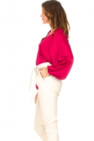 Dante 6 |  Blouse with v-neck Sue | pink  | Picture 5
