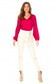 Dante 6 |  Blouse with v-neck Sue | pink  | Picture 3