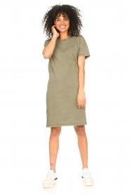 Blaumax |  Organic cotton T-shirt dress Cayman | green  | Picture 3