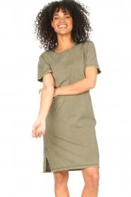 Blaumax |  Organic cotton T-shirt dress Cayman | green  | Picture 2