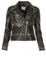 Dante 6 |  Leather jacket with studs Melrose | black  | Picture 1