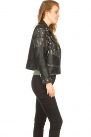 Dante 6    Leather jacket with studs Melrose   black    Picture 5