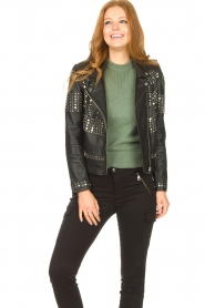 Dante 6    Leather jacket with studs Melrose   black    Picture 4