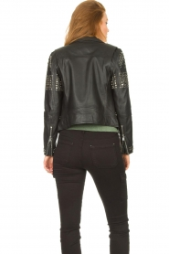 Dante 6    Leather jacket with studs Melrose   black    Picture 6