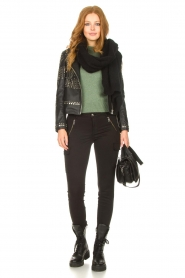 Dante 6    Leather jacket with studs Melrose   black    Picture 3